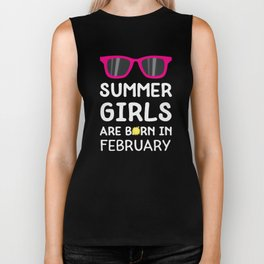 Summer Girls in FEBRUARY T-Shirt Dvagd Biker Tank