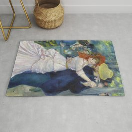 The dance at Bougival by Pierre-Auguste Renoir Rug