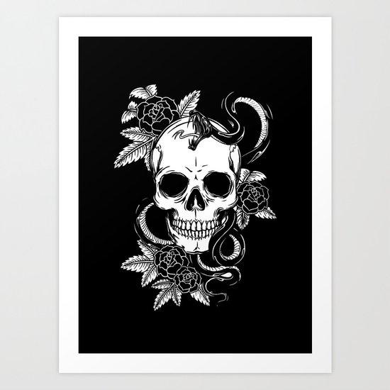 SKULL 7 Art Print
