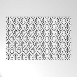 Hand Drawn Hypercube Welcome Mat