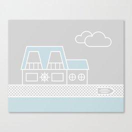 Lagoon House Canvas Print