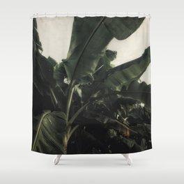 Vintage Tropical Banana Trees Shower Curtain