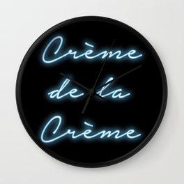 """""""Creme de la Creme"""" Neon Print Wall Clock"""