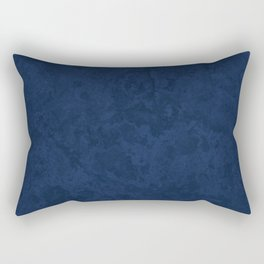 Marble Granite - Deep Royal Blue Rectangular Pillow
