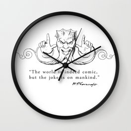 The World is Indeed Comic... Wall Clock