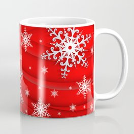 Abstract background with snowflakes Coffee Mug