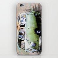 volkswagen iPhone & iPod Skins featuring vintage volkswagen by d.ts