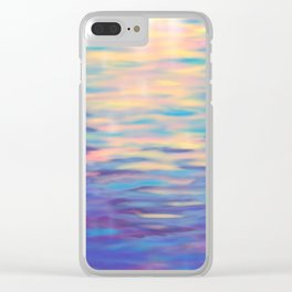 Rainbow Reflections Clear iPhone Case