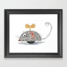 Wheel Mouse Framed Art Print