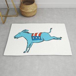 American Donkey Kicking Color Drawing Rug