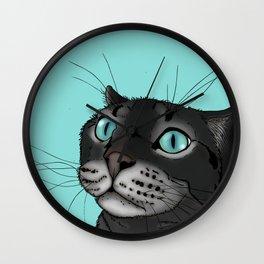 Lenny the Blue Eyed Cat Wall Clock