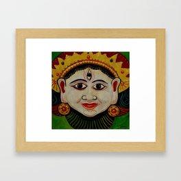 Indian Mask Framed Art Print