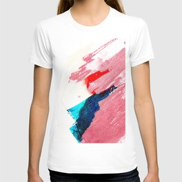 Late summer afternoon modern abstract painting and illustration T-shirt