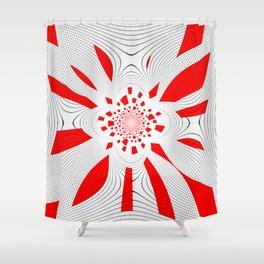 Planète rouge Shower Curtain