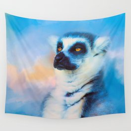 Colorful Expressions Lemur Wall Tapestry