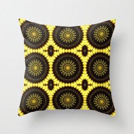 Sunflower Manipulation Grid 2 Throw Pillow