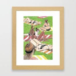 Sunning Framed Art Print