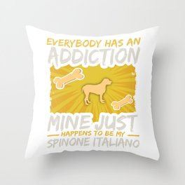 Spinone Italiano  Funny Dog Addiction Throw Pillow