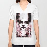 blur V-neck T-shirts featuring BLUR by Ismael Aguilar Bonet