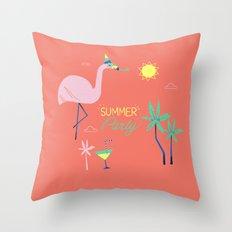Corail Flamingo Throw Pillow