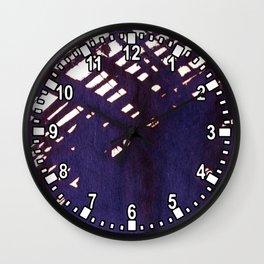 scruffily cross hatched Wall Clock