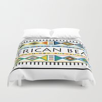 african Duvet Covers featuring African beat by mike lett