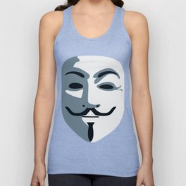 Anonymous Mask #society6 #decor #buyart #artprint Unisex Tank Top