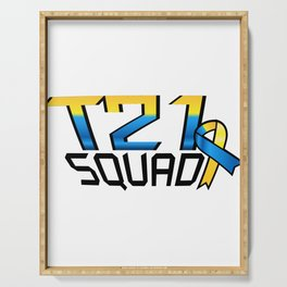 T21 Squad Down Syndrome Awareness Serving Tray