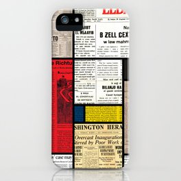Mondrian's News iPhone Case