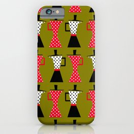 Ole coffee pot in olive green iPhone Case
