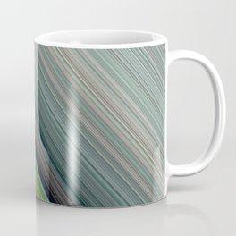 Decorative Colorful Green Blue Lines Design Coffee Mug