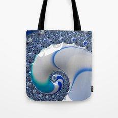 Blue Enamel Whirlpool Tote Bag
