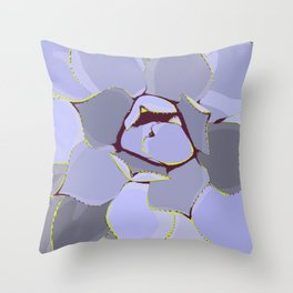 Cactus in lilac Throw Pillow
