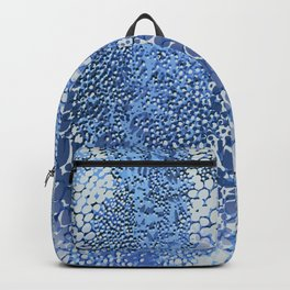gush of dots in blue Backpack
