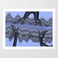 making waves Art Print