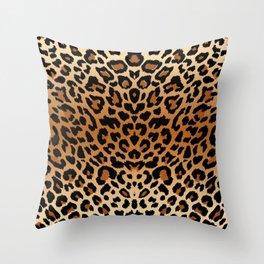 leopard pattern Throw Pillow