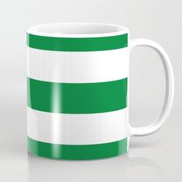 La Salle green - solid color - white stripes pattern Coffee Mug