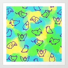 Cockatiels! Art Print