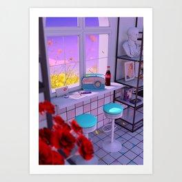 Radio Love Art Print