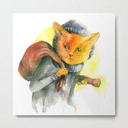 Cat Burglar Metal Print