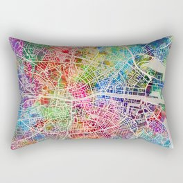 Dublin Ireland City Map Rectangular Pillow