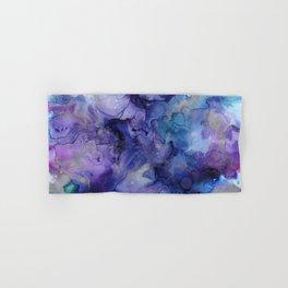 Abstract Watercolor Coastal, Indigo, Blue, Purple Hand & Bath Towel
