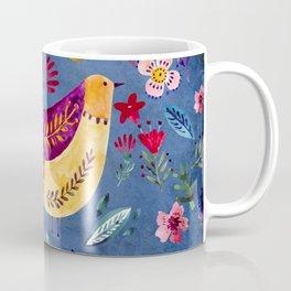 The Early Bird in Flower Garden Coffee Mug