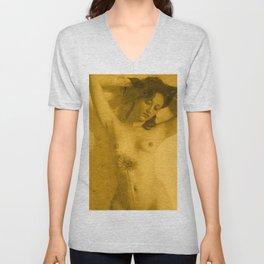 Nude Art Gold Unisex V-Neck