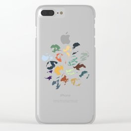 Colorful Water Drops (Watercolor version) Clear iPhone Case