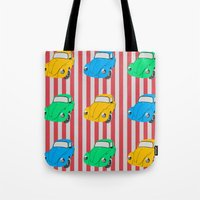 car Tote Bags featuring car by vitamin
