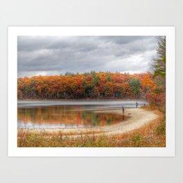 Walden in Autumn Art Print