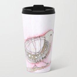 Pink Bird Travel Mug