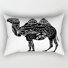 camel silhouette with tribal ornaments Rectangular Pillow