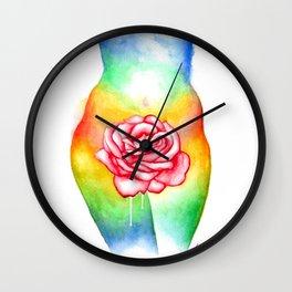 Sensual Rose Wall Clock